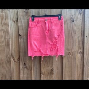 Machine Nouvelle Mode Distressed Pink Skirt M